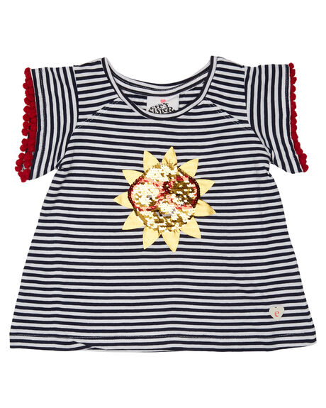 NAVY WHITE STRIPE OUTLET KIDS EVES SISTER CLOTHING - 8021002NVWT