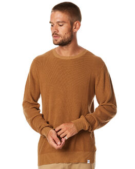 MUSTARD MENS CLOTHING RHYTHM KNITS + CARDIGANS - APR17-KN01MUST