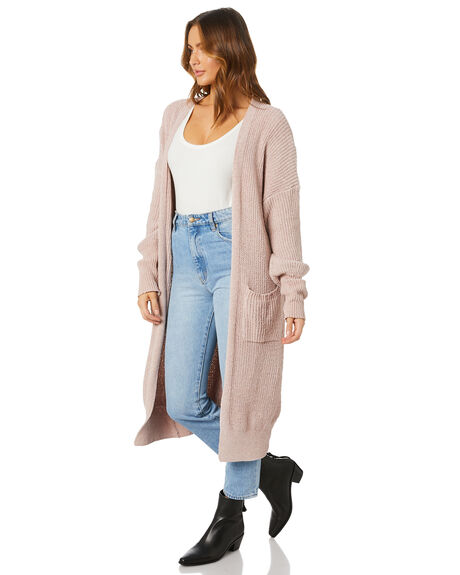 DUSTY PINK WOMENS CLOTHING SNDYS KNITS + CARDIGANS - SFK047DPNK
