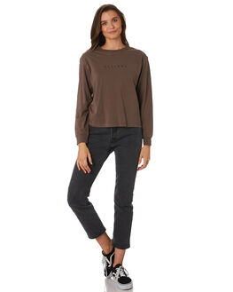 MOSS GREY WOMENS CLOTHING THRILLS TEES - WTW9-102GMOSG