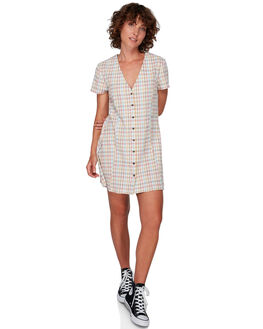 MULTI WOMENS CLOTHING RVCA DRESSES - RV-R292758-M77
