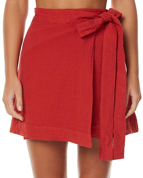 BURNT RED WOMENS CLOTHING THE FIFTH LABEL SKIRTS - TP170121SKBUR
