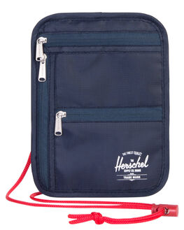 NAVY RED MENS ACCESSORIES HERSCHEL SUPPLY CO WALLETS - 10531-00018-OSNVRD