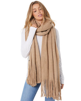 LATTE WOMENS ACCESSORIES RUSTY SCARVES + GLOVES - MAL0398LAT