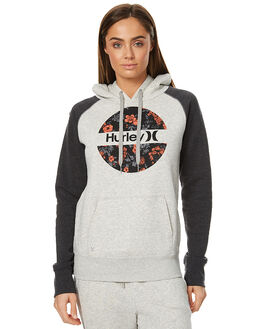 HEATHER GREY WOMENS CLOTHING HURLEY JUMPERS - AGFLKR1705A