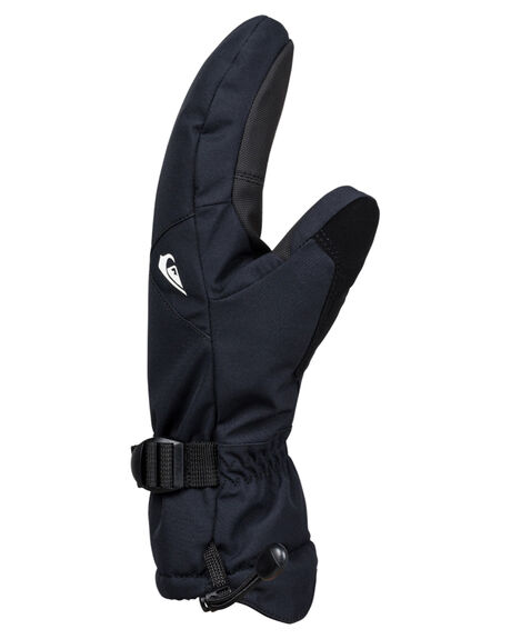 BLACK BOARDSPORTS SNOW QUIKSILVER GLOVES - EQYHN03112KVJ0