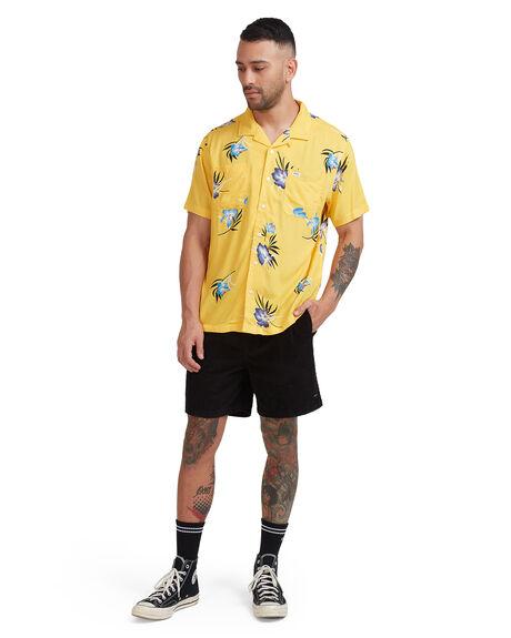 GOLD MENS CLOTHING RVCA SHIRTS - R315182-G20