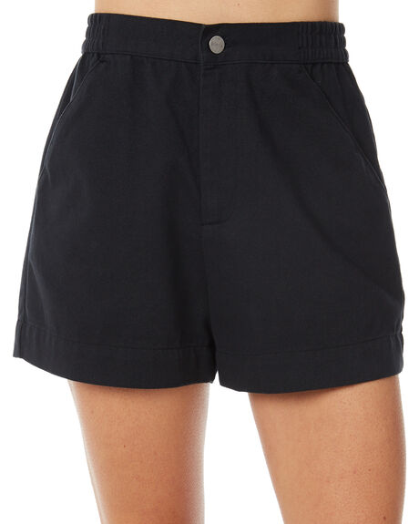 BLACK WOMENS CLOTHING AFENDS SHORTS - W183301-BLK