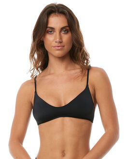 BLACK PEBBLE WOMENS SWIMWEAR BILLABONG BIKINI TOPS - 6581567BLKPB