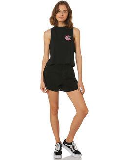 BLACK WOMENS CLOTHING SANTA CRUZ SINGLETS - SC-WTD8712BLK