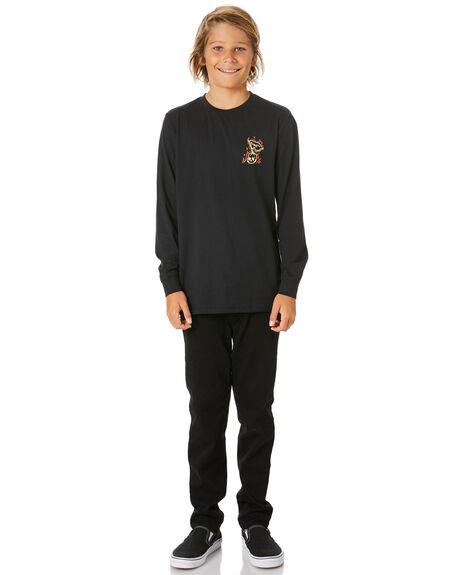 BLACK KIDS BOYS SWELL TOPS - S3204103BLACK