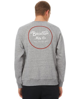 HEATHER GREY MENS CLOTHING BRIXTON JUMPERS - 02146HGYBR