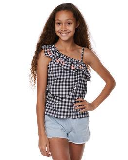BLACK WHITE KIDS GIRLS EVES SISTER FASHION TOPS - 9900108CHK