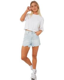WHITE WOMENS CLOTHING RVCA TEES - R282051WHI
