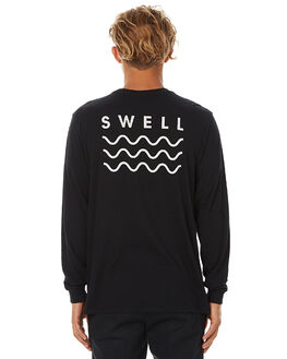 BLACK MENS CLOTHING SWELL TEES - S5161100BLK