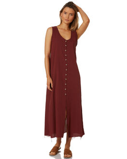 BLOOD RED WOMENS CLOTHING THRILLS DRESSES - WTS8-917HRED