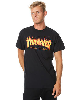 BLACK MENS CLOTHING THRASHER TEES - 20065193BLK