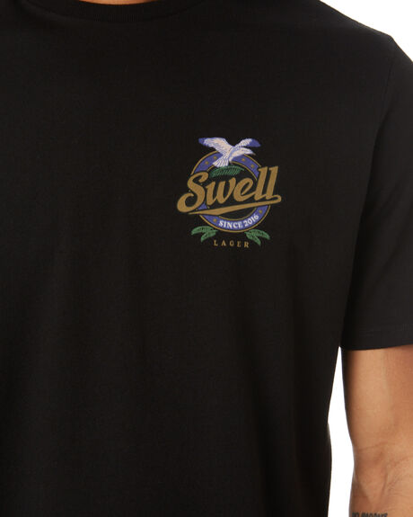 BLACK MENS CLOTHING SWELL TEES - S5222009BLK