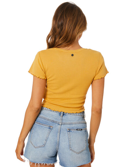 GOLD WOMENS CLOTHING ALL ABOUT EVE TEES - 6401012GLD