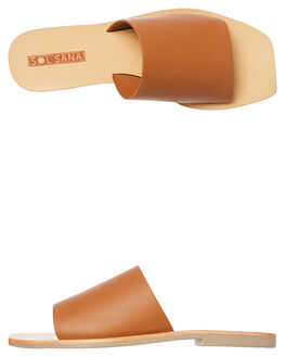 TAN WOMENS FOOTWEAR SOL SANA SLIDES - SS191S331TAN