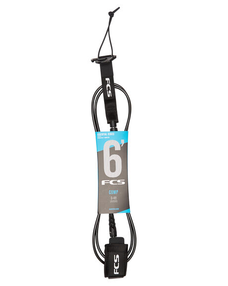 BLACK BOARDSPORTS SURF FCS LEASHES - 2019-BLK-06FBLK