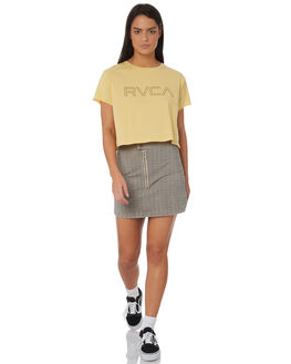 STRAW WOMENS CLOTHING RVCA TEES - R271685STRAW
