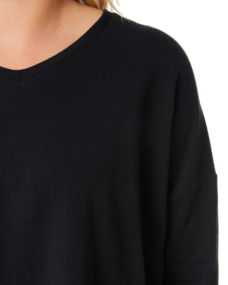 BLACK WOMENS CLOTHING SILENT THEORY TEES - 6054047BLK