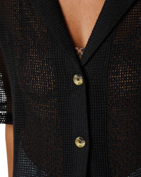 BLACK WOMENS CLOTHING THRILLS FASHION TOPS - WTR20-261BBLK