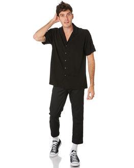 BLACK MENS CLOTHING GLOBE SHIRTS - GB01914014BLK