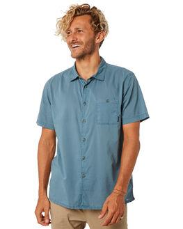 WASHED BLUE MENS CLOTHING BILLABONG SHIRTS - 9581209WSBLU