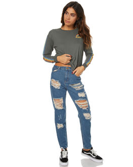 VINTAGE BLUE WOMENS CLOTHING AFENDS JEANS - 53-02-017VINT
