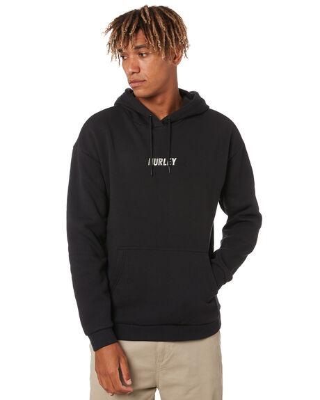 BLACK MENS CLOTHING HURLEY HOODIES + SWEATS - MFT0009710H010