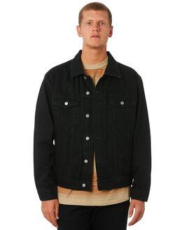 BLACK MENS CLOTHING THRILLS JACKETS - TDP-231BBLK