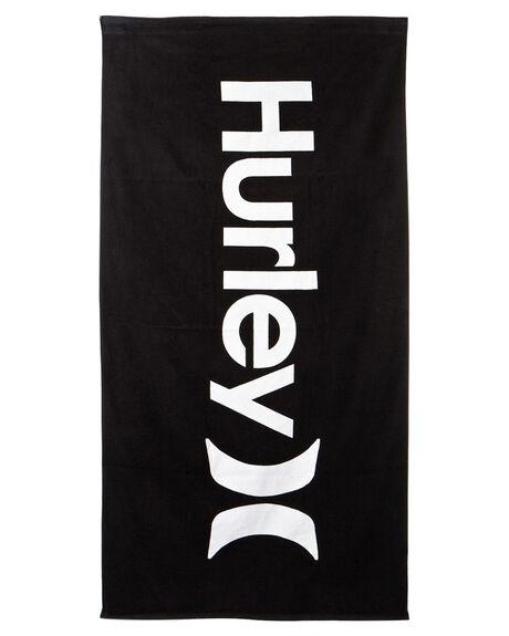 BLACK MENS ACCESSORIES HURLEY TOWELS - HU0027010