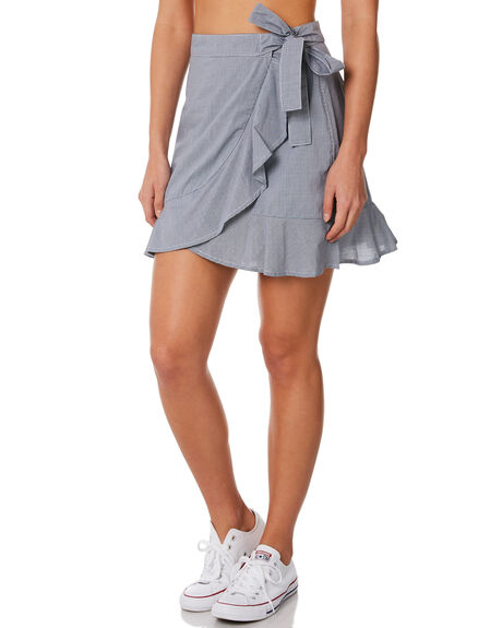 NAVY CHECK WOMENS CLOTHING ELWOOD SKIRTS - W84619NVY