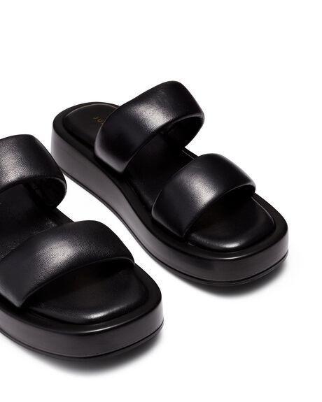 BLACK WOMENS FOOTWEAR JUST BECAUSE FASHION SANDALS - SOLE-JB1427BLK
