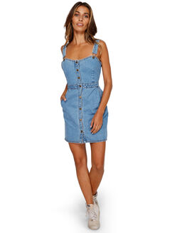 CRYSTAL BLUE WOMENS CLOTHING BILLABONG DRESSES - BB-6591490-CYB
