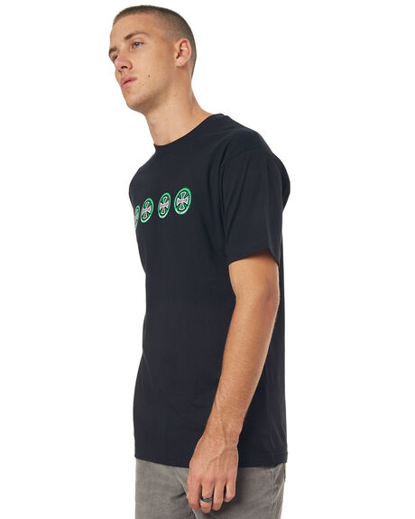 BLACK MENS CLOTHING INDEPENDENT TEES - IN-MTD7154BLK