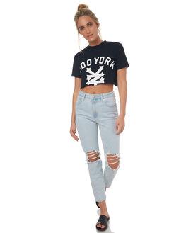BLACK WOMENS CLOTHING ZOO YORK TEES - ZY-WTD7298BLK