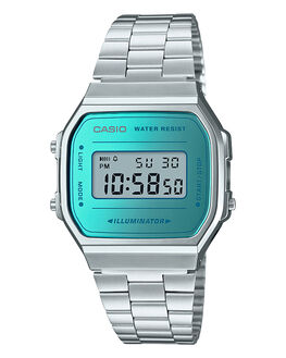 SILVER AQUA MENS ACCESSORIES CASIO WATCHES - A168WEM-2DFSAQU