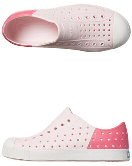 MILK PINK KIDS GIRLS NATIVE SLIP ONS - 12100102-8428PNK