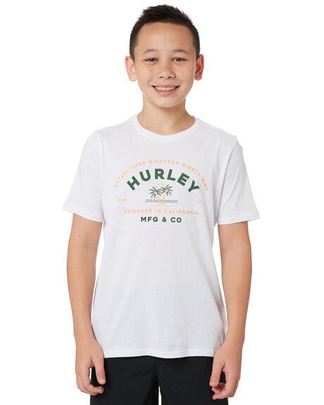WHITE KIDS BOYS HURLEY TOPS - BTSPPALG100