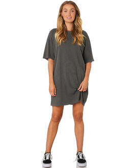 MERCH BLACK WOMENS CLOTHING THRILLS DRESSES - WTA9-913MBMERB