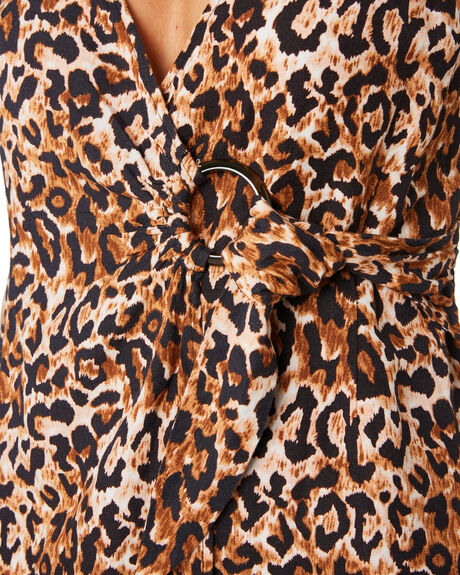 LEOPARD WOMENS CLOTHING TIGERLILY DRESSES - T305446LEO