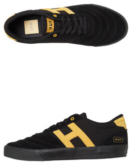 BLACK MENS FOOTWEAR HUF SKATE SHOES - VC00058BLK