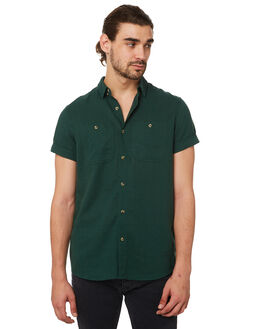 TRADE GREEN MENS CLOTHING ROLLAS SHIRTS - 20093C529