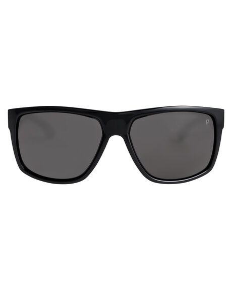BLACK/POLARIZED GREY MENS ACCESSORIES QUIKSILVER SUNGLASSES - EQYEY03134-XKSS