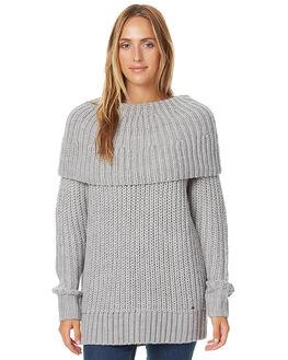 GREY MARLE WOMENS CLOTHING O'NEILL KNITS + CARDIGANS - 3721405GRYM