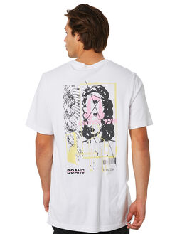 WHITE MENS CLOTHING RVCA TEES - R193061WHT