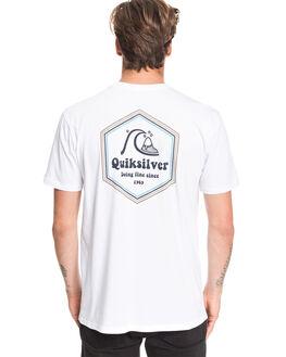 WHITE MENS CLOTHING QUIKSILVER TEES - EQYZT05676-WBB0